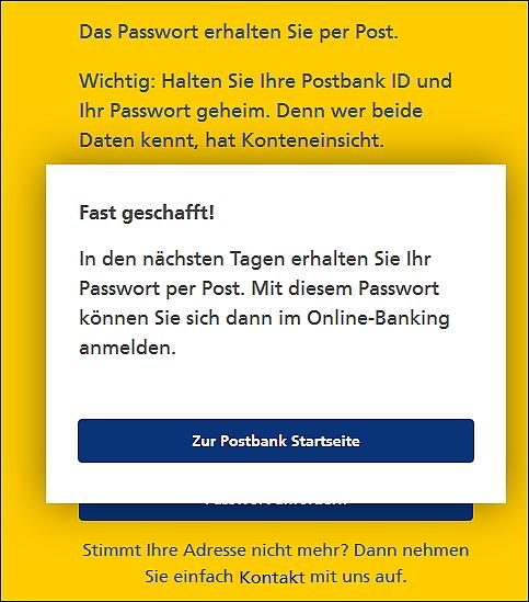 Postbank id gesperrt